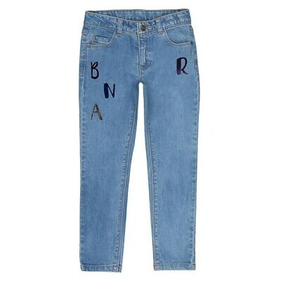 La Redoute Girls Skinny Jeans With Sparkly Letter Print Age 6 Years New (509)