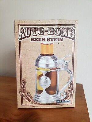 New in Box BARBUZZO AUTO-BOMB BEER STEIN SHOT GLASS SET