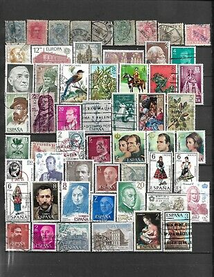 Collection Lot Of 104 Spain Stamps 2 Scan