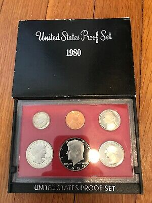 1980-S U.S. Mint Proof set with Susan B. Anthony dollar. Free shipping!