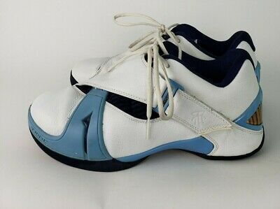 a469f44dfb23 Adidas TMAC 5 T-Mac Tracy McGrady Shoes Basketball 2005 Men Size 11 White  Blue