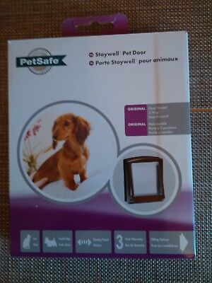 NEW PetSafe, Staywell Original 2 Way Pet Door SMALL BROWN