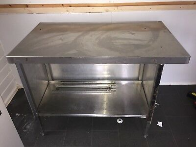 Stainless Steel Catering Prep Table Kitchen Butchers Bakers with under shelf.