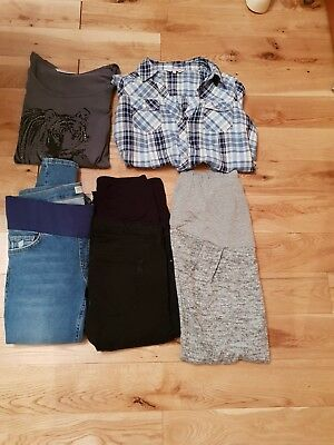 Maternity Clothes Bundle Size 10 Topshop Jeans , Dorothy Perkins , Red Herring