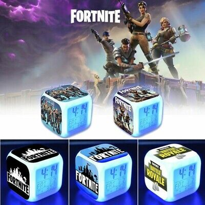 78f2569d1d8e5 NEW FORTNITE Battle Royale color changing Alarm Clock Video Game Xmas gift  UK