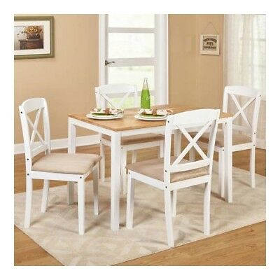 DINING SET ROOM Chairs Table Buffet Furniture Art Wood ...