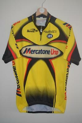 Retro Mercatone Uno Pantani Cycling Short Sleeve Jersey Size 5 Xl Mens ea2a1c2fd