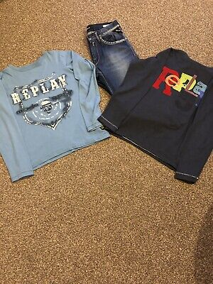 Boys Replay Jeans Long Sleeve Tshirt Top Joblot Age 10