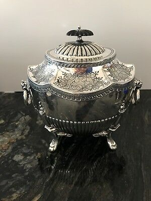 "Victorian Silver Plated 15"" Lidded Tea Caddy Urn James Dickson & Son"