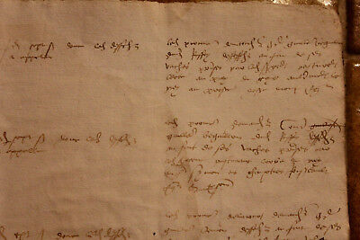 1520 Large medieval manuscript handwritten from lord land casstle farm Oncial