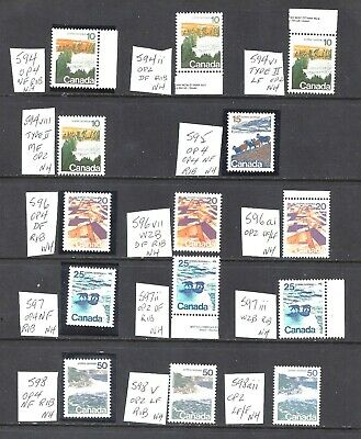 Canada SELECTION OF DIFFERENT LANDSCAPE SCOTT 594-598 VF MINT NH (BS12444-1)