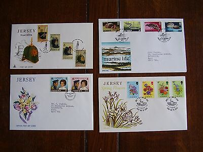 20 Jersey First Day Covers various from the 1970's (Queen Elizabeth 11)-Album.