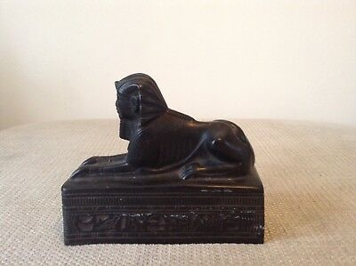 Rare Antique Carved Egyptian Sphinx Figure Collectable