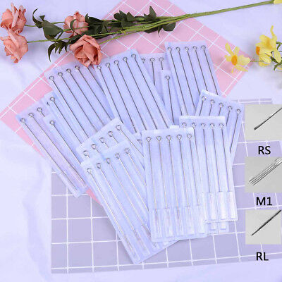 100X Mix Sizes Sterile Disposable Tattoo Needles 3 5 7 9 RL 5 7 9 RS M1 New  *tr