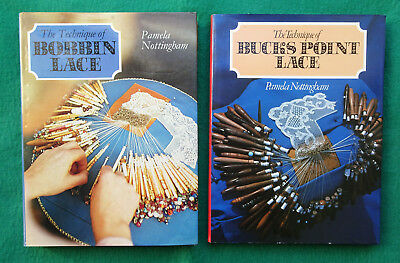 2 x LACEMAKING BOOKS by PAMELA NOTTNGHAM