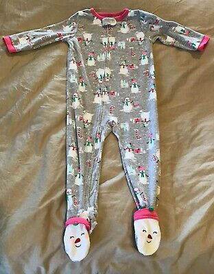 b7ee35e87 EUC CARTERS GIRLS One Piece Fleece Footed Pajamas  Size 24 Months ...