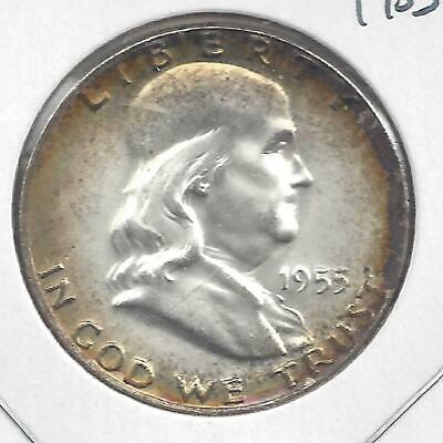 1955 P Franklin half dollar Nice Circulated U.S. 90% silver coin KEY DATE