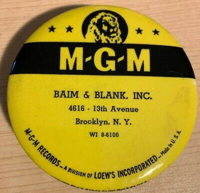 vintage MGM RECORDS advertising record cleaner brush Brooklyn NY c.1952