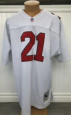 timeless design ac790 45b62 MITCHELL & NESS Throwback Atlanta Falcons Deion Sanders White Stitched  Jersey 54