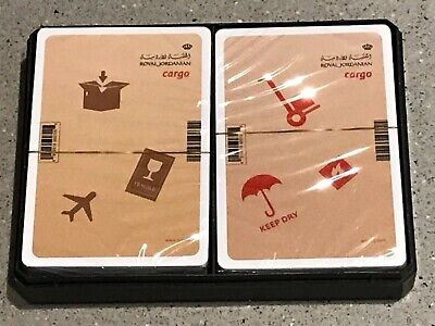 Twin Pack Royal Jordanian Airlines Cargo Playing Cards