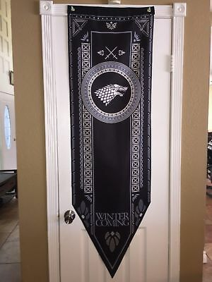 "Game of Thrones XL Tournament Banner Flag (House Stark) 5'-2"" SHIPS IN ONE DAY!"