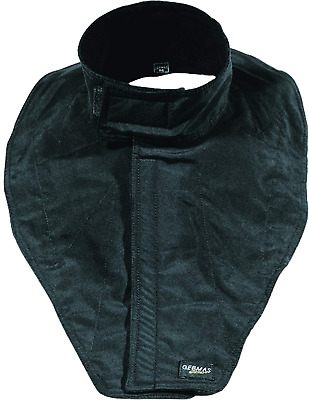 Germas Taslan Chest and Neck Warmer with Velcro Fastener, Black, M