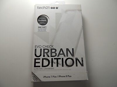 Tech21 Impact Clear Urban Edition Case for iPhone 8 Plus & iPhone 7 Plus - NEW !
