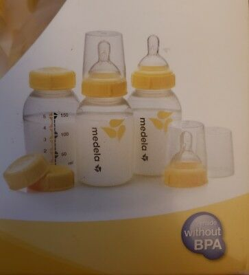 Medela Breastmilk Bottle Set, 5 Ounce, 3 Count Slow Flow 0 - 4 months