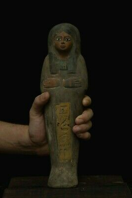 EGYPTIAN ANTIQUE EGYPT STATUE Ushabti Mummy Shabti Handmaid Carved Stone C30 BC