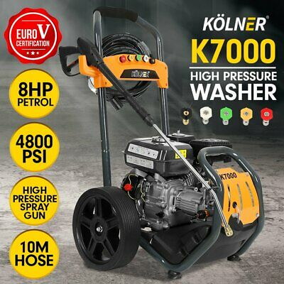New Kolner 8HP K7000 Cleaner Petrol High Pressure Washer Gurney Pump Water Jet
