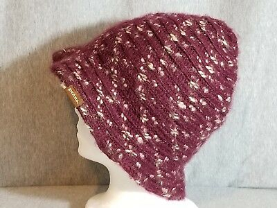 b03e5e3e4325b PrAna Knit Floppy Bucket hat one size Burgandy women s winter cap