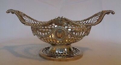 hallmarked 925 sterling silver bowl/basket by goldsmiths of london 202grams