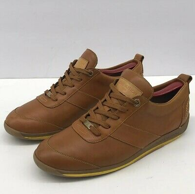 24a0f7bd88bd Louis Vuitton Leather Sneaker Tan Sports Shoes Mens 7.5 italy   8.5 us