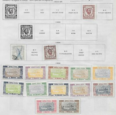 15 Montenegro Stamps from Quality Old Album 1874-1896