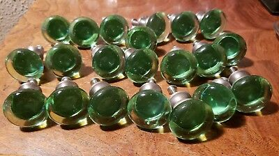 Green Glass Knobs Crystal  Cabinet Drawer Pulls or Kitchen Handles #T27-SET//10