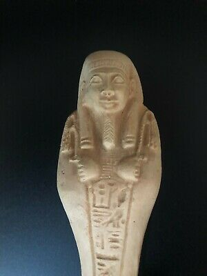 Rare EGYPTIAN ANTIQUE EGYPT STATUE Ushabti Shabti Handmaid STONE New Kingdom BCE