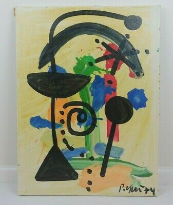 Peter Keil German Neo-Expressionism Abstract Oil On Canvas Painting 1974