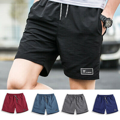 Men Beach Casual Shorts Summer Athletic Gym Sports Training Swimwear Short Pants