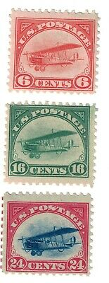 SET OF 3 - USA# C1, C2, C3 Air Mail Stamps, Mint