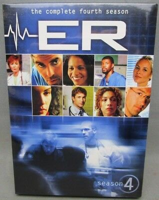 NEW  ER TV Series Drama The Complete Fourth 4th Season 4 6-Disc DVD Box Set 2011
