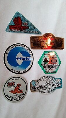 Vintage Joy Angus Place Cordeaux Charbon Baal Bone Colliery Mining Stickers