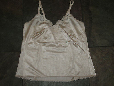718 Warner's Shine On Size 34 Champagne Nylon Cami Size VINTAGE Camisole