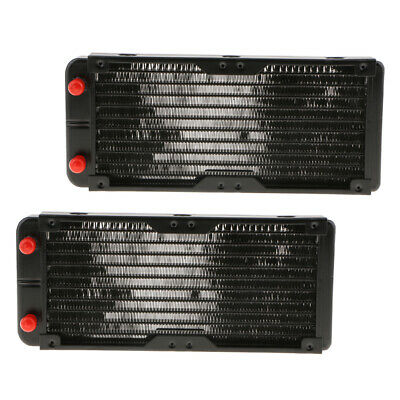 2x 240mm 10 Tubes Aluminum Exchanger Computer Radiator Water Cooling System