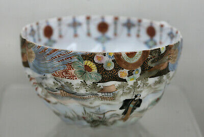 Exquisite Hand Painted Japanese Eggshell Porcelain Teacup Circa 1800s Signed