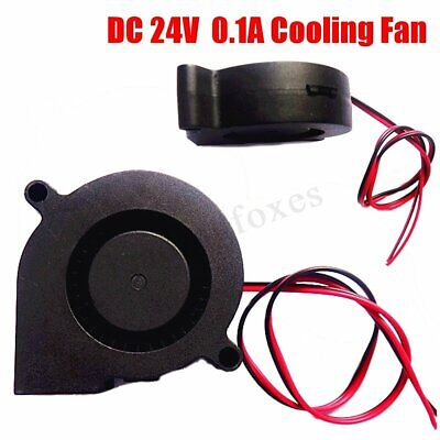 24V DC 5cm 50mm X 15mm 5015s Radial Cooling Blower Centrifugal Exhaust Fan 2 Pin