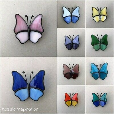 STAINED GLASS BUTTERFLY - 55x55mm ~ Mosaic Inserts, Art, Craft Supplies
