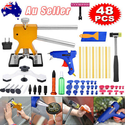 48 Dent Puller Lifter Hail PDR Paintless Removal Glue Gun Car Board Repair Tools