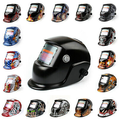 New Solar Auto Darkening Welding Helmet Mask ARC TIG MAG High Quality AU MS