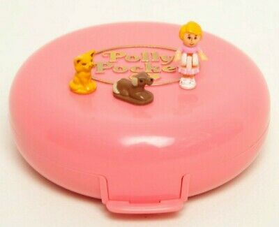 Vintage Polly Pocket Buttons' Animal Hospital COMPLETE Buttons Doll Cat Dog