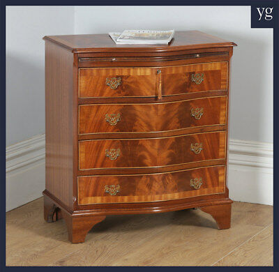 Antique English Georgian Style Flame Mahogany Small Bachelors Chest of Drawers